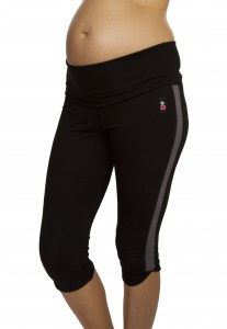 Maternity Exercise Capris band half down.jpg